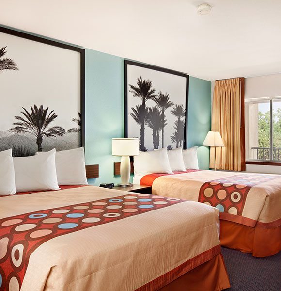 2 Queen Beds Deluxe Room at Indio Super 8 & Suites